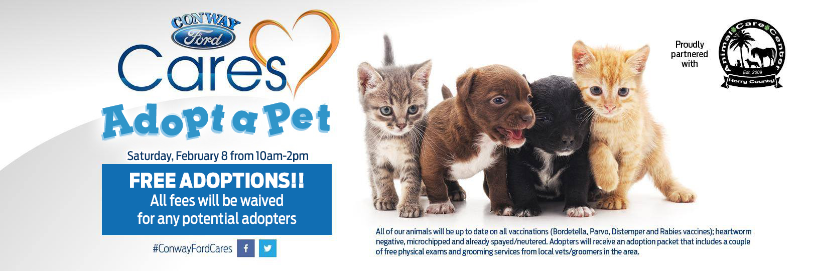Conway Ford Cares Adopt a Pet Event
